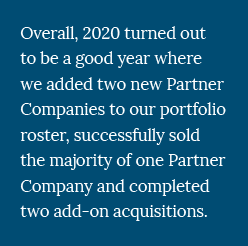 2020 Year in Review - ORG, Private Equity Firm